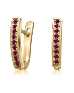 Серьги золотые с рубинами «Маленький секрет»