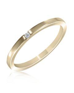 Кольцо золотое с небольшим бриллиантом «Грейси»