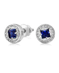 Сережки гвоздики золоті з сапфіром синім або білим «Carrie»