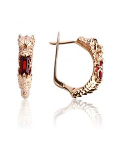 Золоті сережки з рубіном «Серце Дракона»