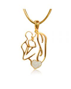 Золотой кулон «Мать и дитя»