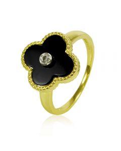 Золотое кольцо «Четырехлистный клевер»