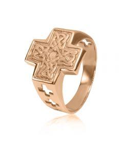 Чоловіча печатка з золота «Вузол довголіття»