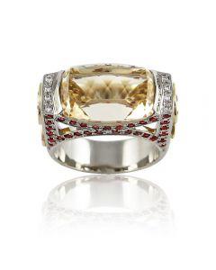 """Золотое кольцо с цитрином """"Агнесса"""""""