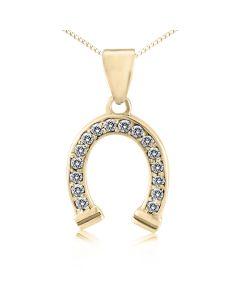 Кулон с бриллиантами «Золотая подкова»