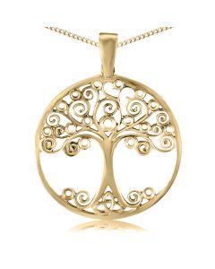 Кулон золотий без каменів «Дерево життя»
