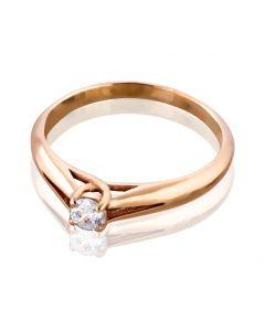 Женское золотое колечко с Сваровски «Весенний каприз»