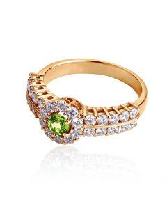 Перстень жіночий з хризолітом «Сон Снігової Королеви»