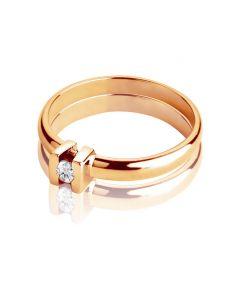 Заручальна каблучка із золота з одним каменем «Есмеральда»