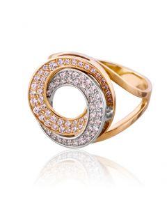 Незвичайна золота каблучка Сваровські «Принцеса Лея»