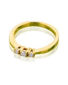 Золотое кольцо с бриллиантами для предложения «Танюша»