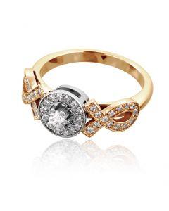 Красивое кольцо с кристаллами Сваровски «Идеал»