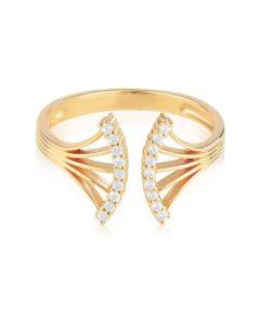 Несомкнутое золотое кольцо c бриллиантами «Venera»