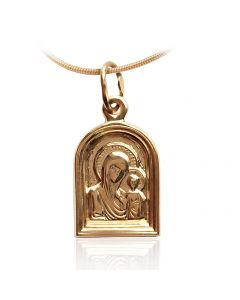 Золота іконка на шию «Спаси нас»