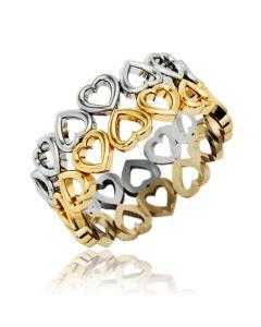 """Золотое кольцо """"Hearts"""""""