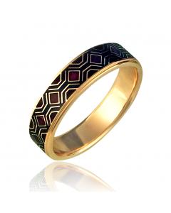 Золотое обручальное кольцо «Gobeline-I»