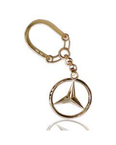 Золотой брелок «Mercedes»