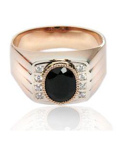 Золотой перстень с агатом