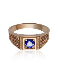 Золотой мужской перстень с сапфиром «Венеция»