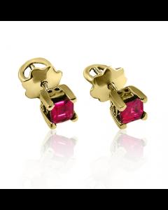 Золотые серьги с рубином «Гармония»