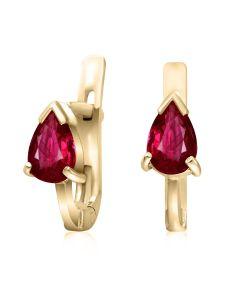 Сережки золоті з рубіном «Джульєтта»