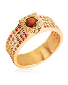 """""""Царское"""" кольцо с рубинами и сапфирами"""
