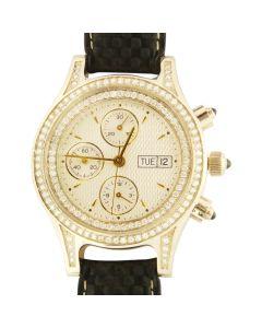 Золотые часы с бриллиантами «Хронограф»