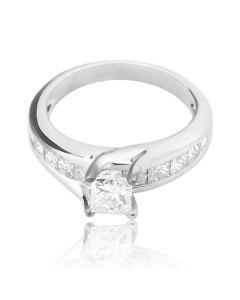 Кільце з діамантом «Принцеса і діаманти»