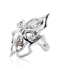 Золоте кільце з діамантом «Фантастика»