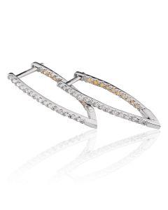 Сережки з діамантами «Тригонометрія»