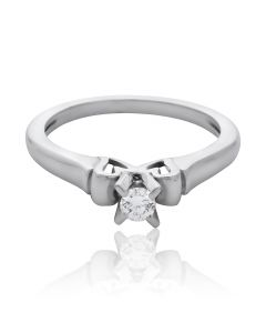 Золота каблучка з діамантом 0.13 Ct «Розана»