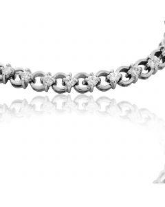 Золотий браслет з діамантами «Для коханої»