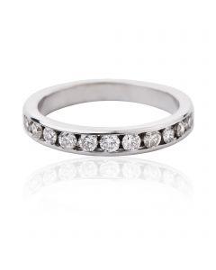"""Золотое обручальное кольцо с бриллиантами """"Love you"""""""