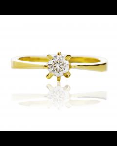 Золотое кольцо на помолвку с бриллиантом 0.3 ct «My Paris»