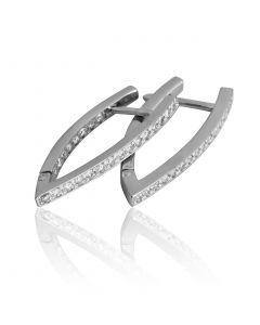 Золоті сережки з діамантами «Дея»