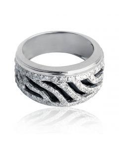 Золота каблучка в розсипу діамантів  «Зоряна ніч»