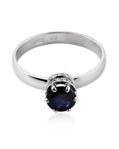 Золоте кільце з сапфіром і діамантами «Aziza»