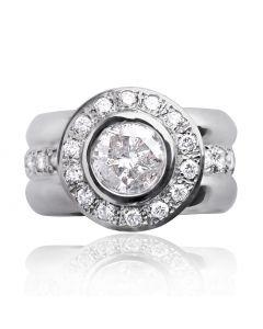 Золоте кільце з діамантом «Імператорське»