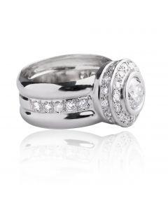 Золотий перстень з діамантами «Аполлінарис»