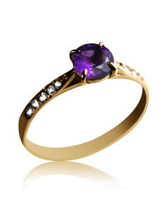 Кольцо с аметистом «Айделин»