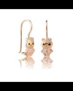 Золоті дитячі сережки «Kitty»