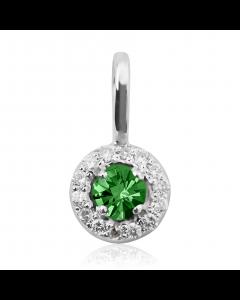 Золота підвіска зі смарагдом та діамантами «Аріда»