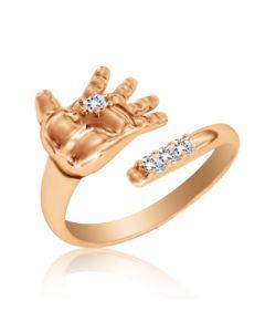 Золотое кольцо к рождению ребенка «Ручка пупса»