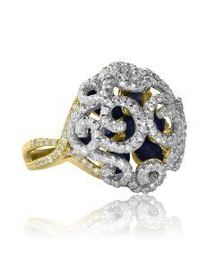 """Золотое кольцо """"Сапфировая Императрица"""""""