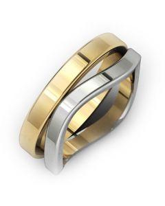 Золотое обручальное кольцо «Irise»