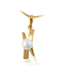 Золотой кулон с жемчугом «Дорогая Элли»
