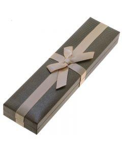 Коробочка подарочная с бантом для браслета или цепочки
