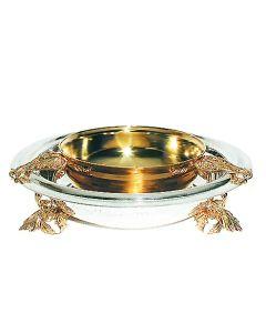 Срібна ікорниця без кришки «Царська» з позолотою