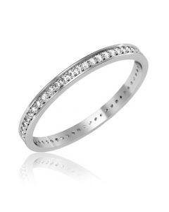 Обручальное кольцо с цирконом