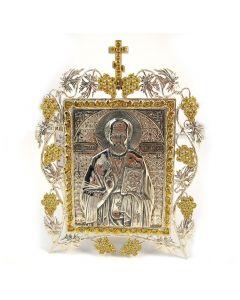 Ікона настільна з камінням «Миколай Чудотворець»